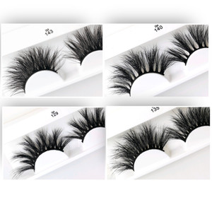 Hand Made 5D Mink 25mm Long Big Dramatic Volumn Faux Mink Eyelashes Thick&Densed&Cross Strip Sexy Eyelashes Better Reusable Mink Extension
