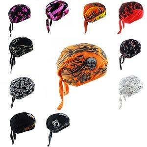 Bicicletta Pirata Bandana Hat Puro cotone teschi stampati policroma Sport all'aria aperta Foulard Hat Hip-Hop Cap Scarf Pirate Hat