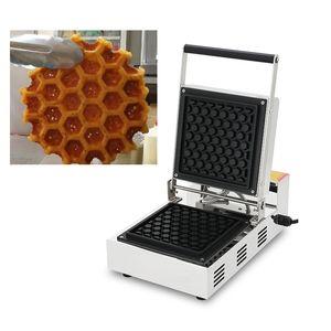 Utilisation commerciale antiadhésif 110v 220v forme de nid d'abeille électrique Liège gaufrier Pop Maker Machine fer plaque de boulanger à vendre