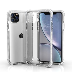 À prova de choque híbridos duplos Cores TPU transparente Acrílico claro Capa Hard Case Voltar para o iPhone 11 Pro XS MAX XR 6 7 8 Plus