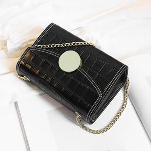 Diseñador-salvaje pequeña diseñador bolso clásico nueva cadena de moda de cuero solo hombro pequeño bolso de mano bolsa de diagonal cuadrada