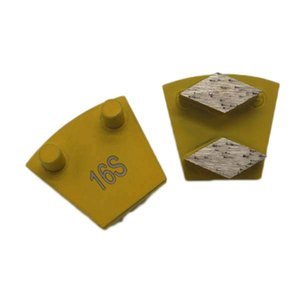 KD-P70 Double Pins Polishing Disc Two Rhombus Segments Concrete Grinding Shoes Grinding Block for Concrete Terrazzo Floor 9PCS