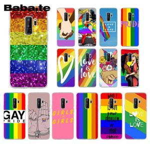 Babaite Gay Lesbian LGBT Rainbow Pride ART Phone Case for Samsung Galaxy S8 S7 edge S10 Plus S10E S10Lite S6 S9plus