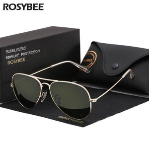 High Quality G15 Glass Lens Women Men Sunglasses Uv400 Aviation Brand Classic Mirror Male Oculos Vintage Banned Man Sun Glasses ZbkIp