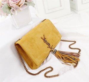ein-Schulter-Beutel 7A High-End-kundenspezifische Qualitäts diagonales Kreuz Tasche Mode-Stils Gold-Metall-Accessoires mit langen Schulterriemen der neuen Frauen.