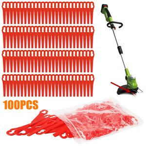 100PCS Red Plastic Blades Set Cutter Trimmer Blade Lawnmower Blade Plastic Replace For Cordless Grass Trimmer Strimmer Parts