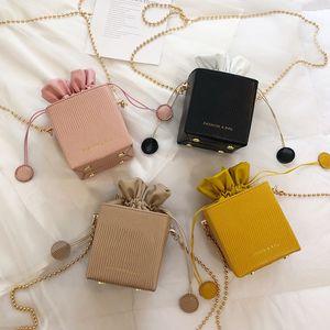 LISM Ladies sacs nouveau mode sac seau de pompage unique épaule mini-perle sac de téléphone mobile pour les femmes Messenger sac femmes