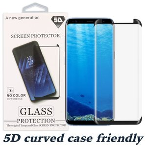 5D Full Curved Screen Protector for Samsung S10 PLUS S10 Note 10 S20 Plus Case friendly Tempered Glass for Samsung S9 Protector Film