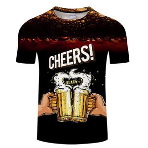 WX59 BEAR Bira Baskı T shirt yüzünden en Zaman Harf Kadınlar Erkekler Komik Yenilikçi Tişört Kısa Kollu Unisex Kıyafet Giyim Dropshi Tops
