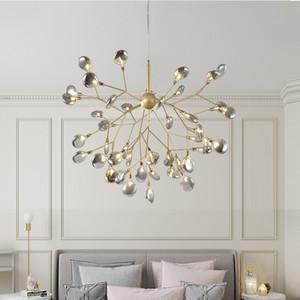 LED Modern lucciola Lampadario luminoso elegante ramo di un albero lampada lampadario decorativo lampadari a soffitto appesi illuminazione a led
