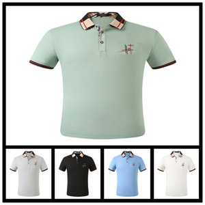Men's Polo Shirt Designer Men Brand England Style Fashion Luxury Short Sleeve Mens Clothes Popular T Letters Pattern Breathable Shirt