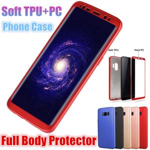Custodia Ultra-sottile a 360 ° Protezione completa della cassa del corpo TPU morbida + Custodia a pieno schermo rigida per Samsung Galaxy S7 Edge S8 S9 Plus
