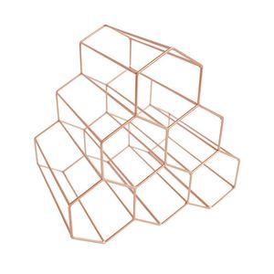 Nordic Creativo Geométrico Wine Rack Metal Simple Hogar Uva Wine Rack Restaurante Sala de estar Bar Gabinete Displa