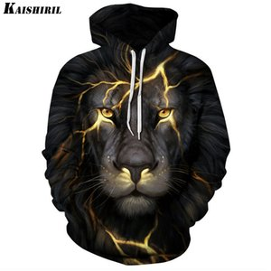 3D Hoodies engraçado da camisola Men Casual Harajuku Lion Hoodie Mulheres Casal Hip Creative Homens KAISHIRIL Hop Pullovers