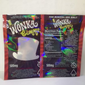 500mg Vider Wanka gélifiés bonbons sac d'emballage corde dank Nerds corde bonbons Nerds corde sacs Gummy