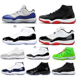 Hochwertige 11S Männer und Frauen basketabll Schuhe züchten niedrig WMNS Concord 45 Space Jam Metall Silberkuppe und Roben Gamma blaue Turnschuhe