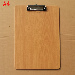 Wooden A4 Clipboards Wood Store Clip Folder Board Desk File Drawing Writing Pad School Office Accessory Tool