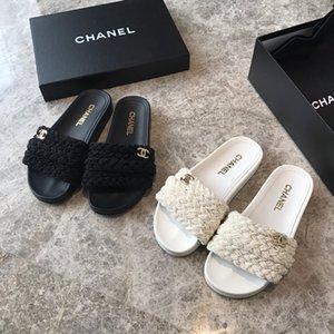 2020 Высокое качество MULE DWAY EN COTON Brode SLIDE Роскошная Женщины сандалии новый стиль высокое качество Мода женщин Трусы Размер 35-39