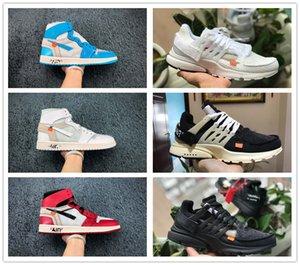 2020 nuevos de marca 1 altos zapatos de baloncesto OG Chicago Retros baratos Bred UNC señoras de los hombres de obsidiana Presto V2 zapatillas de deporte de diseño técnico