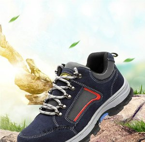 Men's Work Safety Shoes Steel Toe Cap Breathable Boots Men Outdoor Anti-slip Anti-Puncture Construction Safet Boots