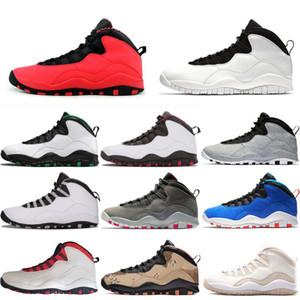Projeto tênis de basquete 10 Seattle 10s cimento sapatos masculinos Cinza frio Estou de volta Chicago pó azul Aço Grey treinadores desportivos sapatilha