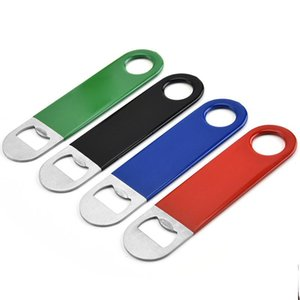 4styles stainless steel opener plastic PVC bottle opener wine beer beverage home opener kitchen gadget tool FFA4012