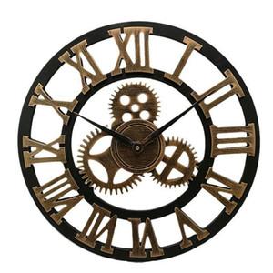 Endüstriyel Dişli Duvar Saati Dekoratif Retro MDL Duvar Saati Sanayi Yaş Stil Odası Dekorasyon Wall Art Dekor