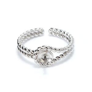 Ювелирные изделия DIY Band Silver Pearl для двойного кольца Стерлинговые заготовки Настройки 925 Выводы Twist Pearl Party HGGXE