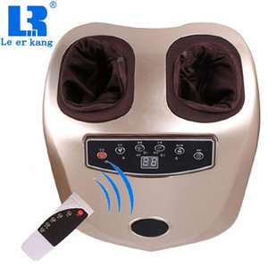 LEK 566B 4D Shiatsu Kneading Massage Machine Electric Vibrator Foot Massager Air Pressure Heating Massager for Feet