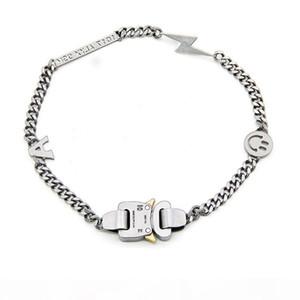19SS Collier ALYX Bracelet Métal chaîne Hommes Femmes Hip Hop Outdoor ALYX rue Accessoires sourire Collier