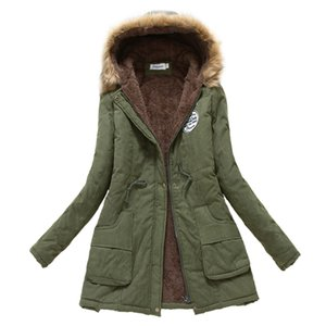 Womens Parka Casual Maternity Wear Autumn Military Hooded Jacket Women Fur Coats Only (Suitable For Pregnancy 1-5 Months)