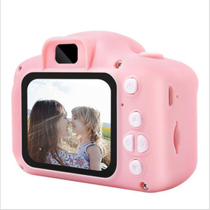 Crianças Camera Hot Xmas Crianças Mini Digital Câmera dos desenhos animados com câmara 8MP câmera SLR Brinquedos para Tela de presente de aniversário de 2 polegadas Tirar foto B6966