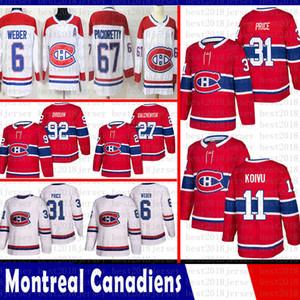 Монреаль Канадиенс мужчины Carey Цена хоккея 6 Shea Weber 67 Макс Pacioretty 27 Гальченюк 92 Jonathan Drouin 11 Брендан Галлахер