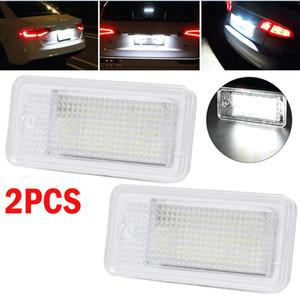 2019 Nouvelle 2PCS Erreur Free Car LED 6000k Numéro de plaque d'immatriculation lumière SMD pour Audi A3 S3 A4 S4 B6 B7 A6 Q7 Car Light