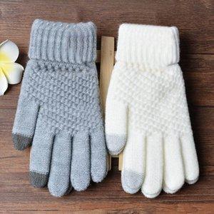 Newly 1 Par Guantes de tejer Mantenga caliente a prueba de viento de manera para la señora de las mujeres de invierno al aire libre