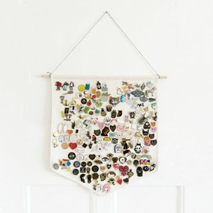 Cotton Pin Badge Display Flag Wall Display Pennant Banner Badge Buttons And Lapel Collections Home Decoration