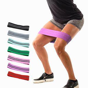 Meilleures ventes Virson Anti Slip Cotton Hip bandes de résistance Booty exercice bandes élastiques pour le yoga stretching formation Fitness Leg Workout