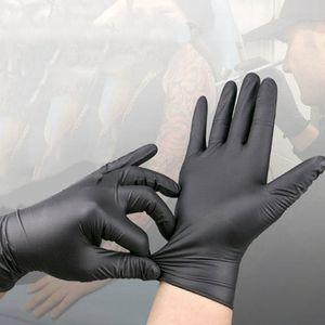 Luvas luvas pretas brancas descartáveis de látex azul borracha antiderrapante Latex Luva Tattoo Supplies luvas de limpeza de produtos