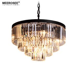 Lámpara de lámpara de araña de cristal moderna K9 Crystal Smoky Gray Crystal suspensión lámpara colgante luz para restaurante restaurante hotel sala de estar