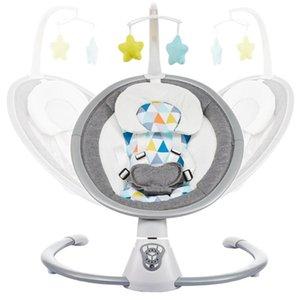 Детские качели Детские Rocking Chair Для Новорожденных Электрический Колыбель с пультом дистанционного управления