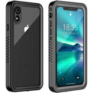 """Original ip68 à prova d 'água case para iphone xr choque sujeira neve à prova de proteção com toque de identificação para iphone xr 6.1 """"case capa skin"""