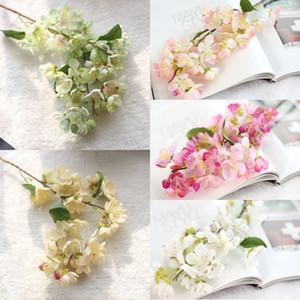 Japonês Sakura Flower Vivid Falso Cherry Blossom Fábrica de pano Wedding Party Sakura Sala Escritório Loja Flor Decoração