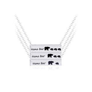 Hot Fashion Jewelry Polar Mama-Bären-Halskette Silber überzogene Bären-Halskette Geschenke für Mutter Ehefrau Geschenk der Mutter Tages Geburtstags-Remembrance
