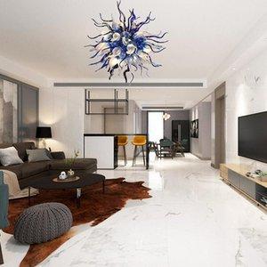 미술 샹들리에 가벼운 화려한 현대 램프 LED 천장 조명 스테인드 글라스 거품 장식 거실 대형 샹들리에 색상 Customization