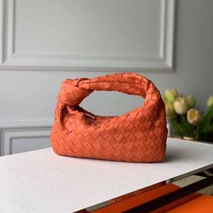 Tejido nuevo diseñador carteras de cuero suave bolsa con anudados forman el bolso de mano de las mujeres mini Monedero envío