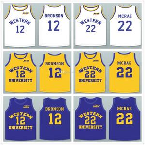 Eylem Bronson 12 Anfernee Hardaway Butch McRae 22 Batı Üniversitesi Mavi Cips Retro Basketbol Jersey Erkekler Dikişli Özel Ad Formalar