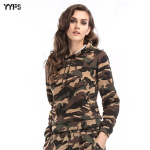 2019 Autumn and Winter European and American New Long-Sleeved Camouflage Hoodie Womens Casual Sweater Large Size Shirt Women