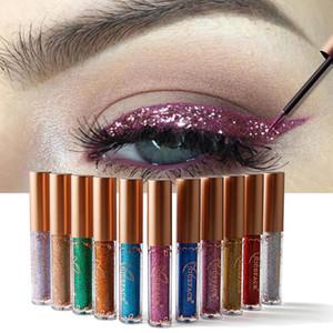 Блеск для глаз Косметика Сияющий Косметика 12 цветов Shimmer Metallic Eyeliner Liquid Lady Макияж глаз Инструмент красоты