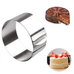16-30 سنتيمتر للتعديل المقاوم للصدأ قالب الكعكة الكعكة فندان موس الدائري الخبز أداة كعكة العفن جولة أدوات تزيين الكعكة