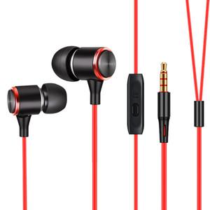 In-Ear 3m Long 3.5mm Telefono cellulare Headset Adattatore per auricolari cablati Universal TPE Soft 3.5 mm Auricolari con microfono per canzone K